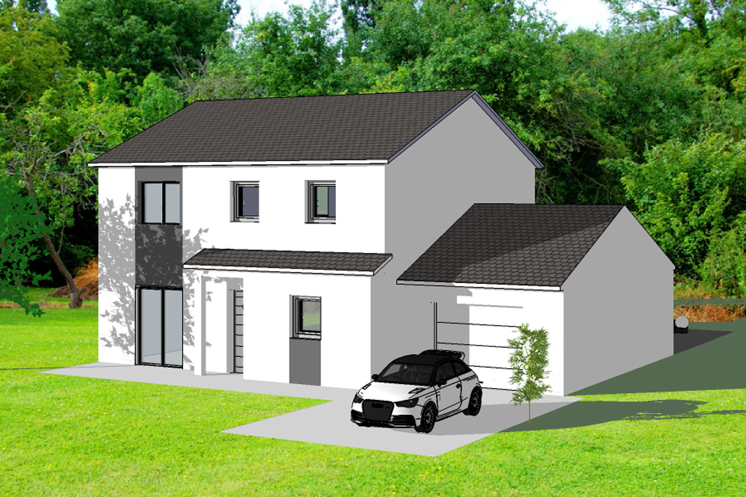 Good maison neuve construire with terrain plus maison a - Maison simple a construire ...